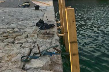 Sanacija obale ispred hotela Marina u Krku