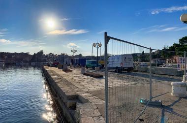 Radovi u luci Krk, siječanj 2020.g. Ribarski mul