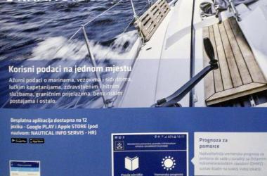 nauticki informacijski servis, aplikacija