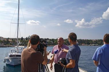 župan Zlatko Komadina, posjet lukama otoka Krka, ŽLU Krk