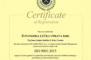 ISO certificat 9001:2015 english