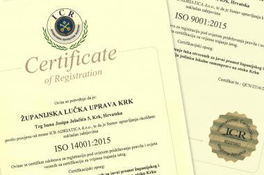 ŽLUK ISO certifikati