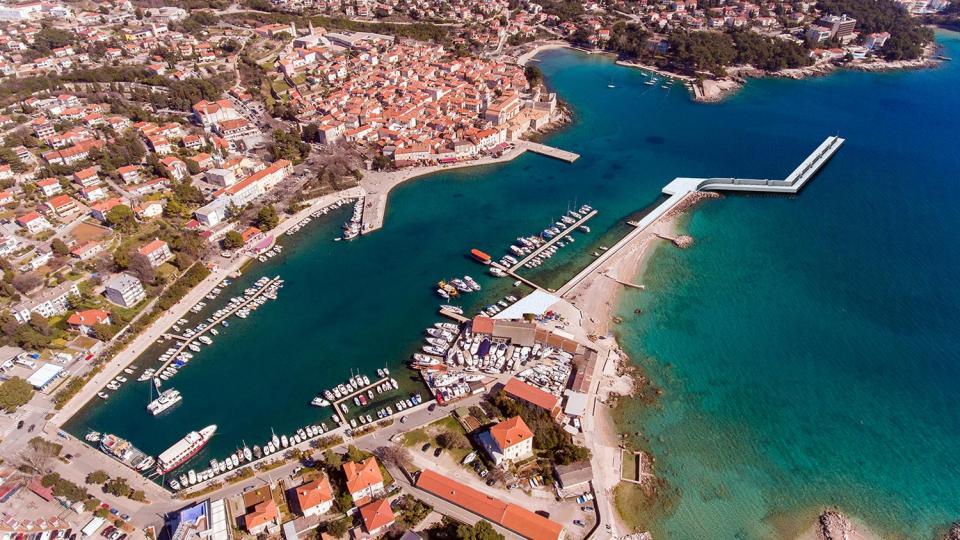 Projekt ribarska luka Krk - vizualizacija lukobrana