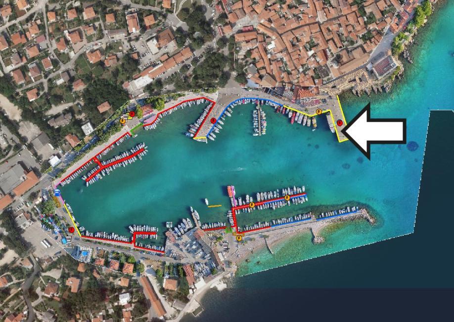Označeno pristanište brzobrodske linije