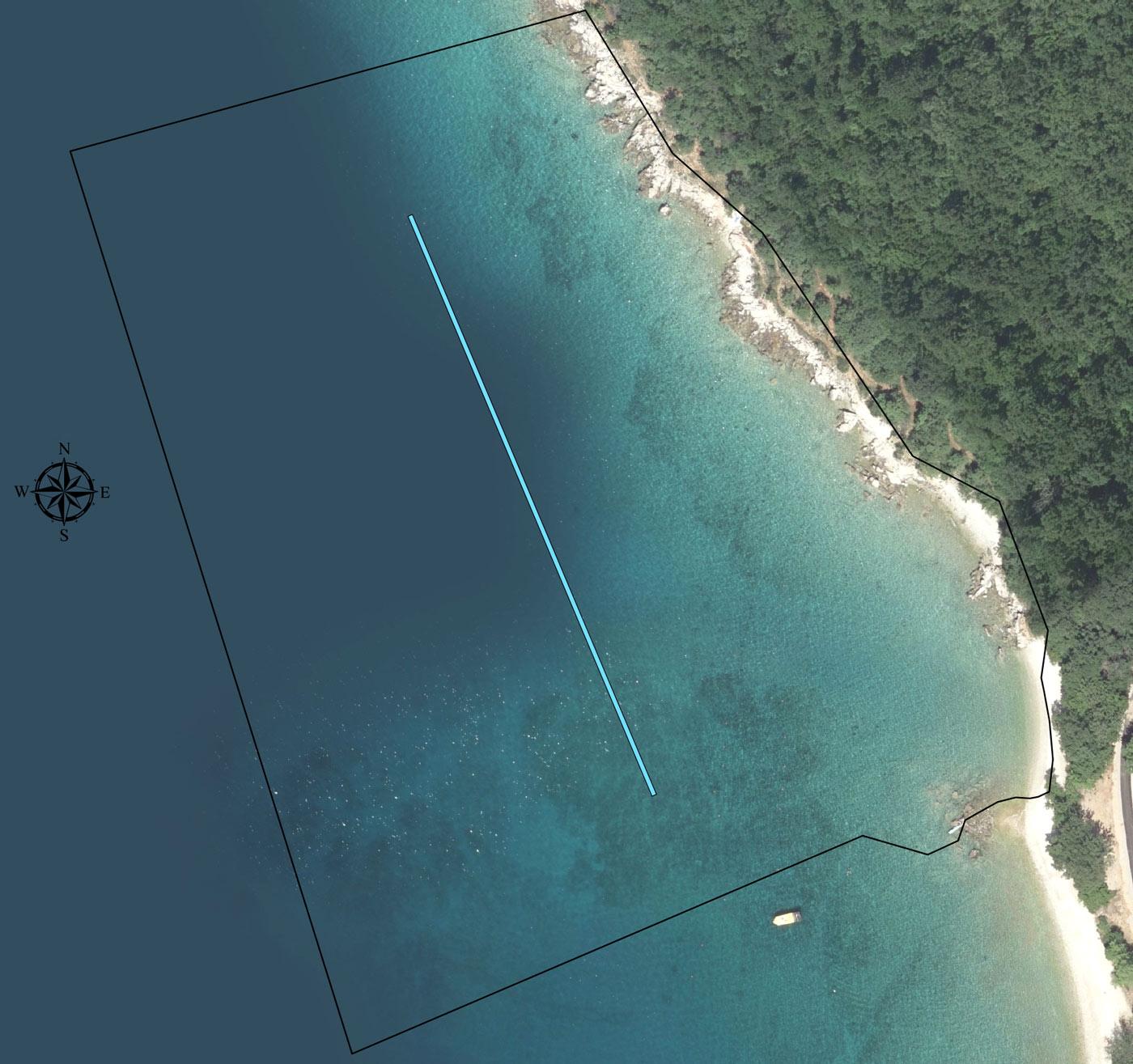 Luka Njivice bazen Pod Rov - ortofoto lučkog područja