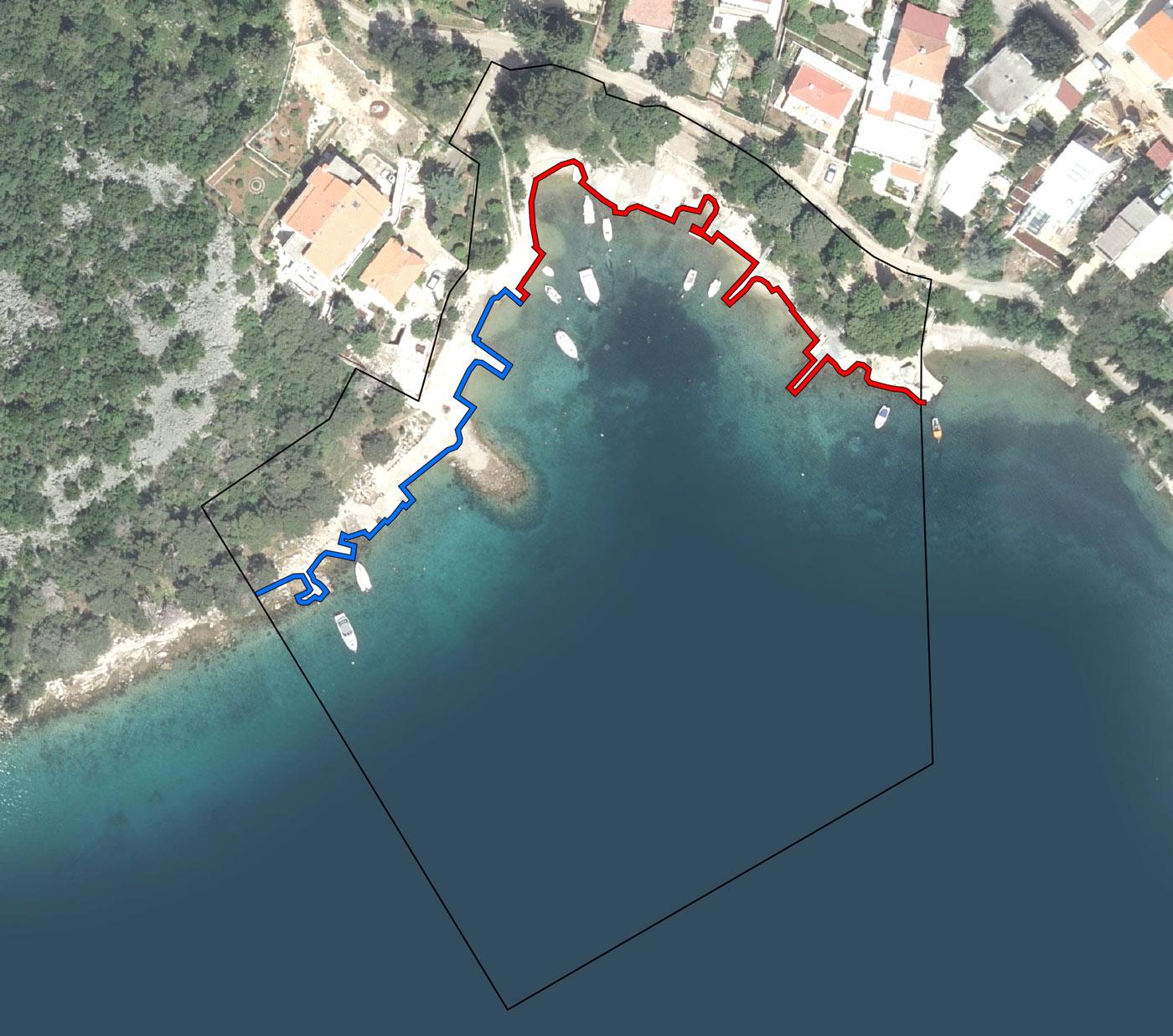 Luka Omišalj - bazen Lučica - ortofoto lučkog područja