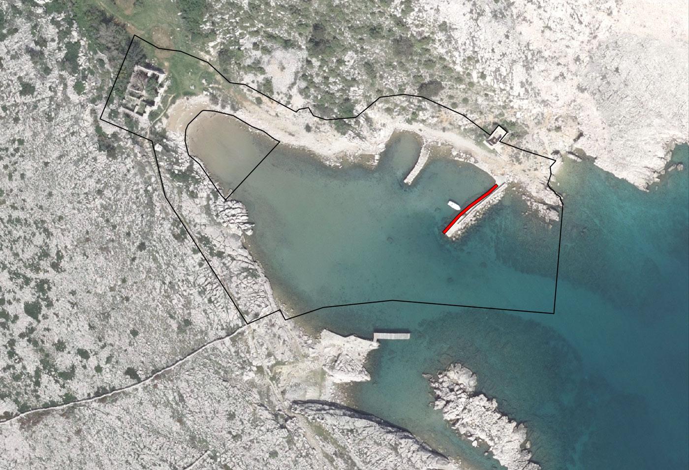 Luka Voz - bazen Silvanjska - ortofoto lučkog područja